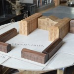 Oak, Beech and Walnut model for The Foundling Museum 2015
